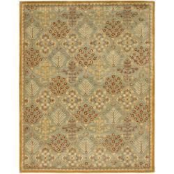 Safavieh Handmade Tree of Life Slate Blue Wool Rug (11' x 17')