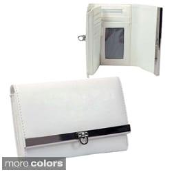Dasein Classic Faux Leather Flip-Clasp Tri-fold Wallet