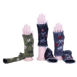 Wool Floral Arm Warmers (Nepal)
