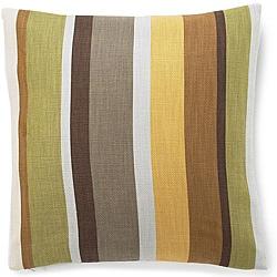 20 x 20-inch Hosta Stripes Celedon Cotton Decorative Pillow