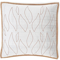 Flames Grey/Orange Silk Pillow