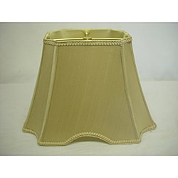 Rectangle Cut-Out Cut-Corner Silk Shade With Trim