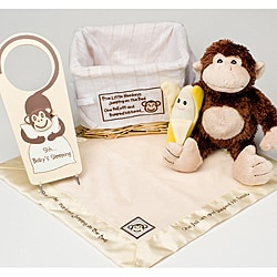 Baby Aspen Five Little Monkeys 5-Piece Gift Set in Basket