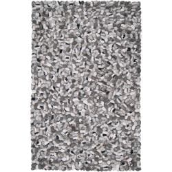 Hand-woven Canistota New Zealand Felted Wool Stone Look Textured Rug (5' x 8')