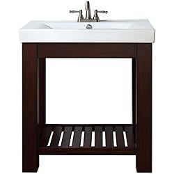 Avanity Lexi 30-inch Single Vanity in Light Espresso Finish with Sink and Top