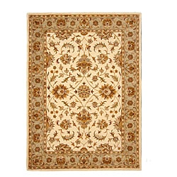 Hand-Tufted Tempest Ivory/Olive Green Area Rug (8' x 11')