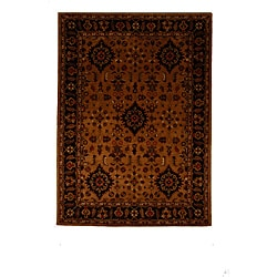 Hand-Tufted Tempest Brown/Dark Brown Area Rug (8' x 11')