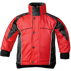 Sledmate Red/Black Fleece-lined Drawstring-hem Youth Winter Jacket