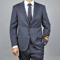 Men's Dark Grey Slim Fit Wool Suit