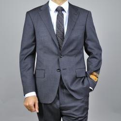 Men's Dark Grey Slim Fit Wool Suit