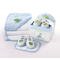 Baby Aspen Finley the Frog 4-piece Bathtime Gift Set