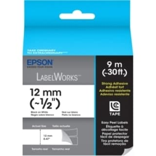 Epson Strong Adhesive Label Cartridge Label Tape Black on White