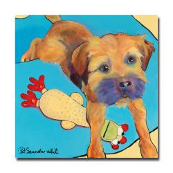 Pat Saunders-White 'Favorite Toy' Large Canvas Art