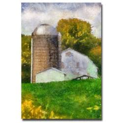 Lois Bryan 'Barn and Silo' Canvas Art