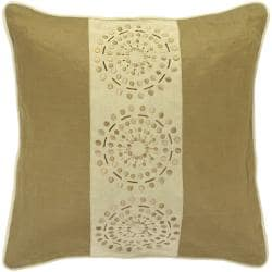 Mons Khaki/ Tan Decorative Pillow