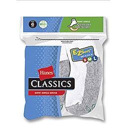 Hanes Boy's Classic Ankle Socks (Pack of 6)