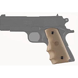 Hogue Colt Officers Desert Tan Rubber Grip with Finger Grooves
