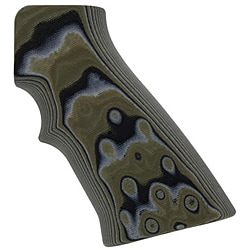 Hogue Olive Drab Green Camo AR15 G-10 Grips