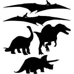 Instant Chalkboard Dinosaur Wall Sticker Set