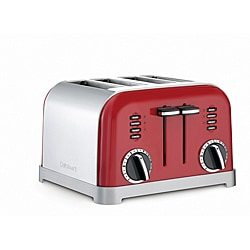 Cuisinart CPT-180MR Metallic Red Classic Metal 4-Slice Toaster