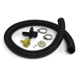 Algreen Black Rain Barrel Deluxe Diverter Kit