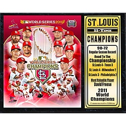 St. Louis Cardinals 2011 World Series Champion Black Plaque