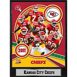 2011 Kansas City Chiefs 9 X 12 Team Plaque