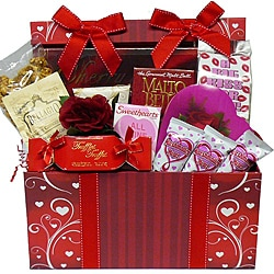 Sweet Love Chocolate and Treats Gift Basket