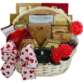 My Gourmet Valentine Gift Basket With Caviar - my-gourmet-valentine