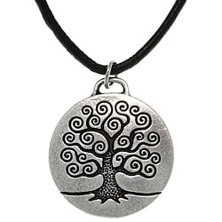 Carolina Glamour Collection Antiqued-pewter 'Tree of Life' Celtic-style Pendant Necklace