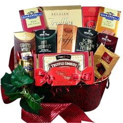 Art of Appreciation Gift Baskets: Decadent Chocolate Truffle Treats Gift Basket