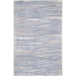 Julie Cohn Hand Knotted Blue Anchorage Abstract Design Wool Rug (2 ' x 3')