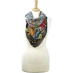 LA77 Animal Floral Lightweight Scarf