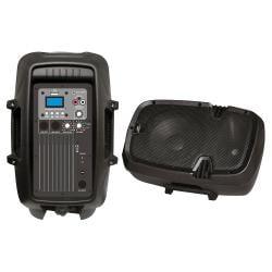 "Pyle 8"" 600 Watt Powered Two-Way PA Speaker with MP3/USB/3.5mm Input"