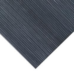 Rubber-Cal Fine Ribbed Corrugated Rubber Floor Mat (3' x 6' x 3mm)