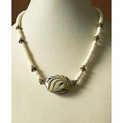 'White Tiger' Bone Necklace