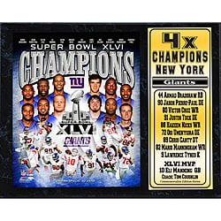 Super Bowl XLVI Champion New York Giants Stat Plaque 8802532