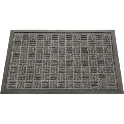 Rubber-Cal Charcoal Wellington Rubber Carpet Floor Mat (4' x 6')