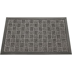 Rubber-Cal Charcoal Wellington Rubber Carpet Floor Mat (3' x 5')