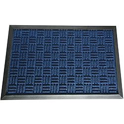 Rubber-Cal Blue Wellington Rubber Carpet Floor Mat (3' x 5')