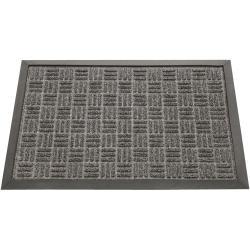 Rubber-Cal Wellington Charcoal Carpet Rubber Mat (1'6 x 2'6)