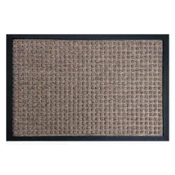 Rubber-Cal Brown Nottingham Carpet Floor Mat (4' x 6')