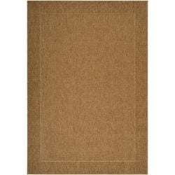 Woven Punjabi Cream Indoor/Outdoor Border Rug (7'10 x 11'1)