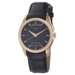 Tissot Men's T035.407.36.051.00 'Couturier' Rose Gold Black Leather Strap Watch 8807481