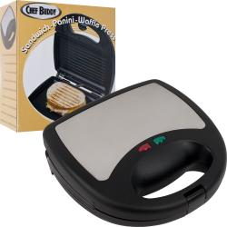 Chef Buddy 3-in-1 Sandwich Panini and Waffle Press 8810963