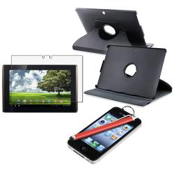 INSTEN Leather Phone Case Cover/ Anti-glare LCD Protector/ Stylus for Asus EEE Pad Tablet