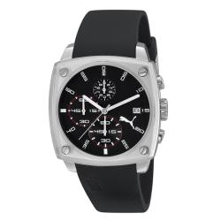 Puma Men's Silver and Black Watch
