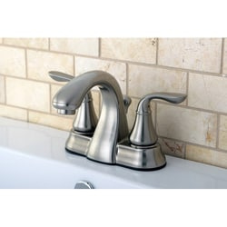 Satin Nickel Double-handle Bathroom Faucet