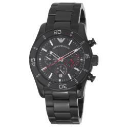 Emporio Armani Men's AR5931 'Sport' Black Dial Black Stainless Steel Watch