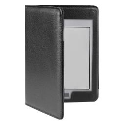 Black Leather Case for Amazon Kindle Touch